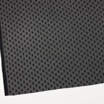 ポリエステル×ドット(ブラック)×ジョーゼット・カットジャガード_全3色 サムネイル2