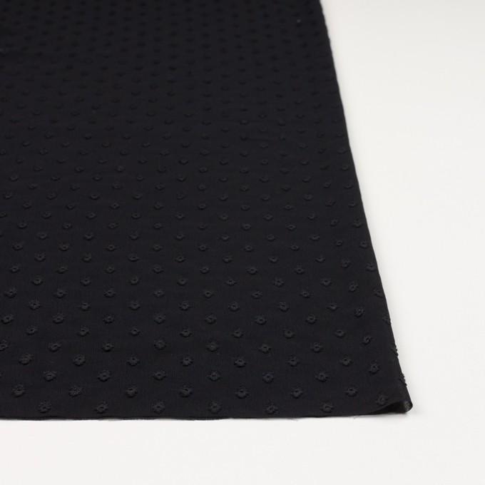 ポリエステル×ドット(ブラック)×ジョーゼット・カットジャガード_全3色 イメージ3