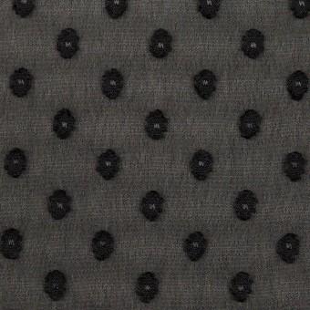 ポリエステル×ドット(ブラック)×ジョーゼット・カットジャガード_全3色