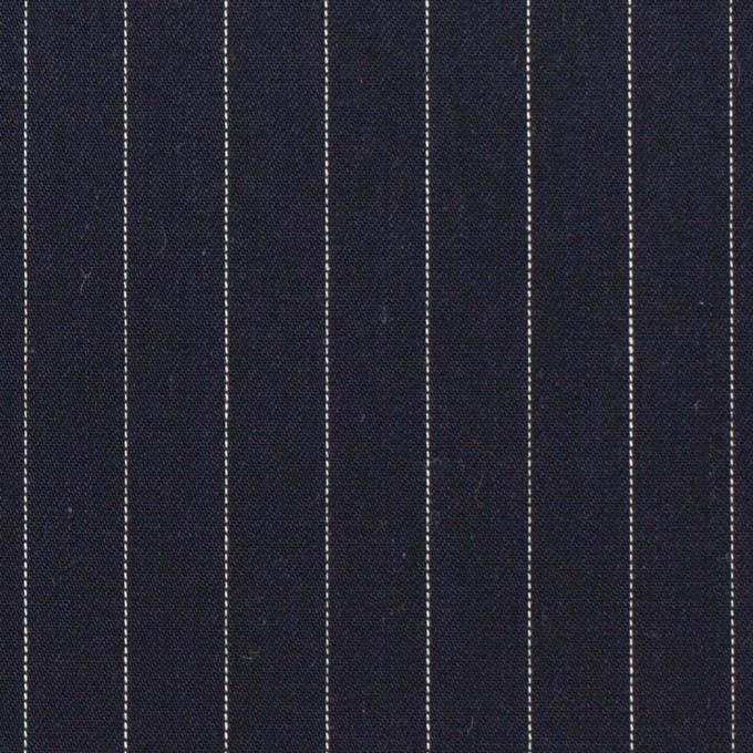 コットン×ストライプ(ダークネイビー)×サージ イメージ1