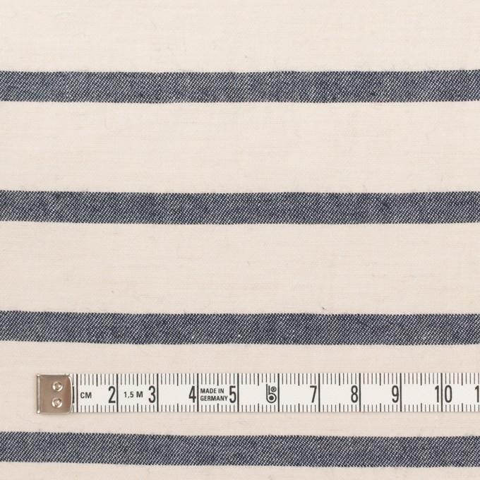 コットン&リネン×ボーダー(キナリ&ネイビー)×サージワッシャー イメージ4