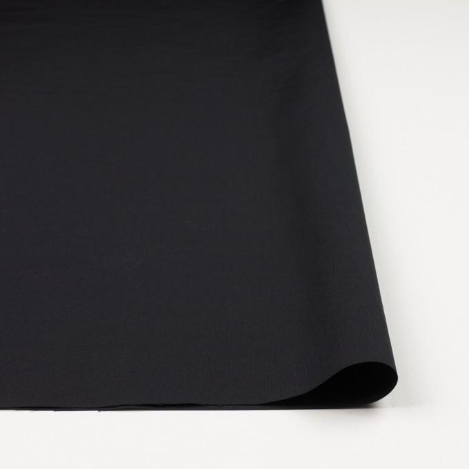 コットン&ポリエステル×無地(ブラック)×かわり織_全3色_イタリア製 イメージ3