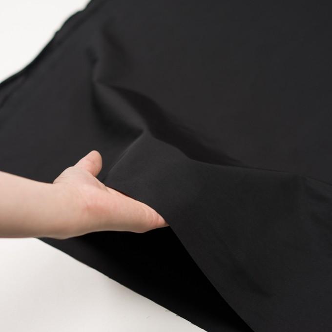 コットン&ポリエステル×無地(ブラック)×かわり織_全3色_イタリア製 イメージ5