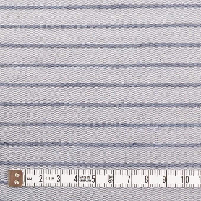 リネン&レーヨン×ボーダー(ネイビーグレー)×かわり織 イメージ4