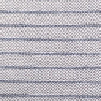 リネン&レーヨン×ボーダー(ネイビーグレー)×かわり織 サムネイル1