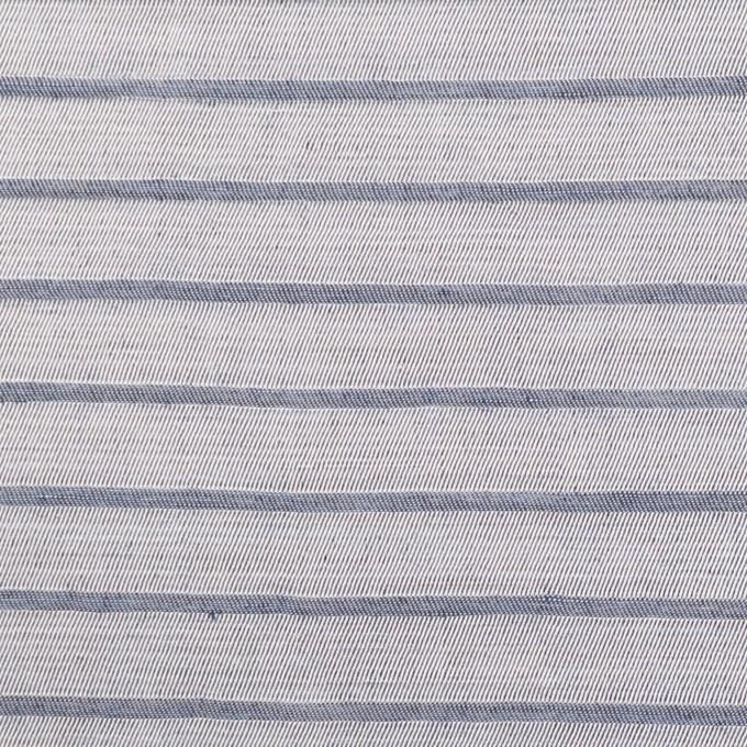リネン&レーヨン×ボーダー(ネイビーグレー)×かわり織 イメージ1