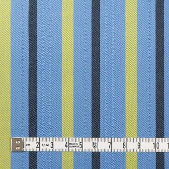 テンセル×ストライプ(サックス、イエロー&ブラック)×サージジャガード_全2色 サムネイル4