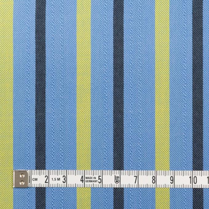 テンセル×ストライプ(サックス、イエロー&ブラック)×サージジャガード_全2色 イメージ4