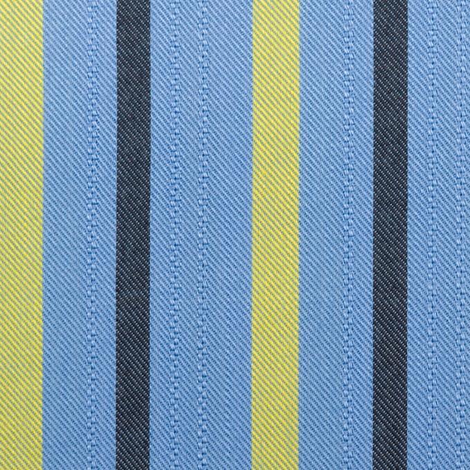 テンセル×ストライプ(サックス、イエロー&ブラック)×サージジャガード_全2色 イメージ1