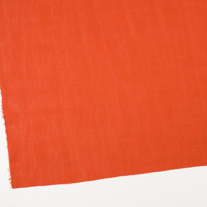リネン&コットン×無地(バレンシアオレンジ)×かわり織ワッシャー_全4色 イメージ2