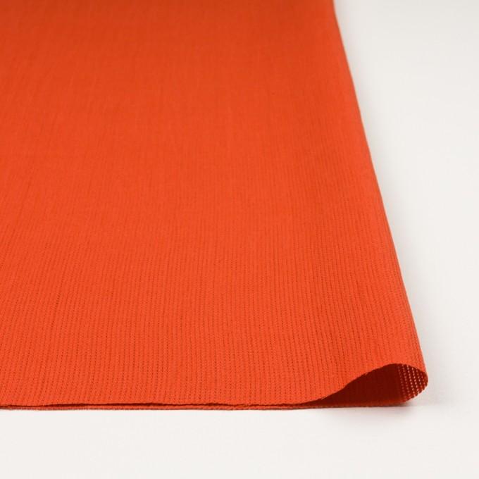 リネン&コットン×無地(バレンシアオレンジ)×かわり織ワッシャー_全4色 イメージ3