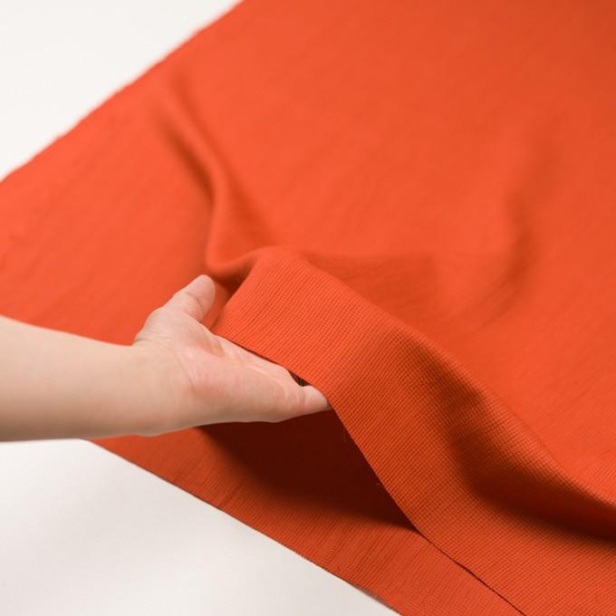 リネン&コットン×無地(バレンシアオレンジ)×かわり織ワッシャー_全4色 イメージ5