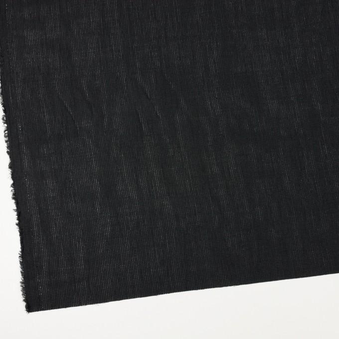 リネン&コットン×無地(ブラック)×かわり織ワッシャー_全4色 イメージ2