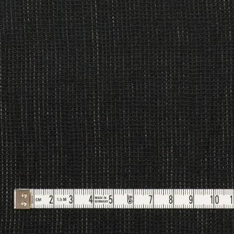 リネン&コットン×無地(ブラック)×かわり織ワッシャー_全4色 サムネイル4