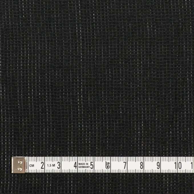 リネン&コットン×無地(ブラック)×かわり織ワッシャー_全4色 イメージ4