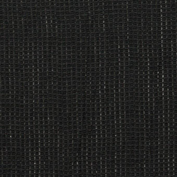 リネン&コットン×無地(ブラック)×かわり織ワッシャー_全4色 イメージ1
