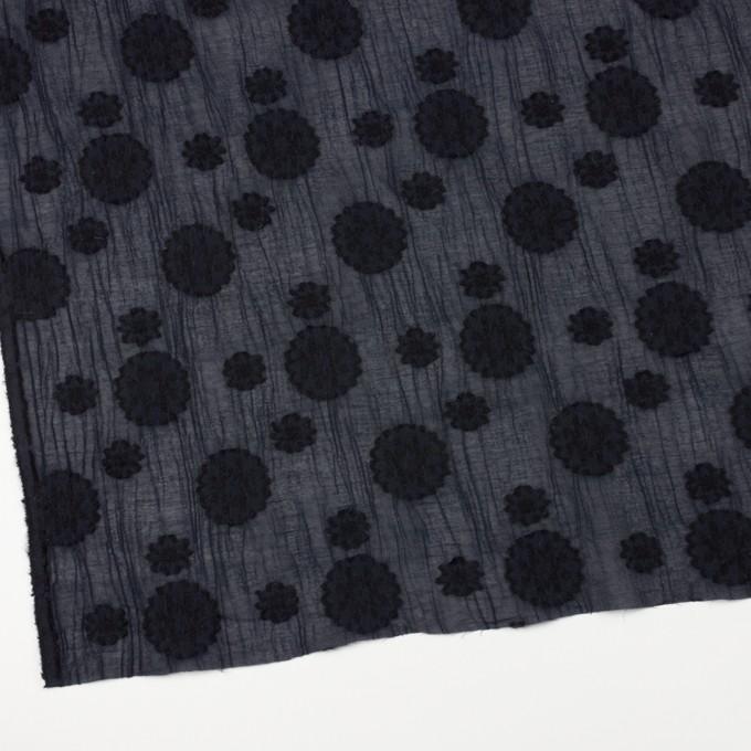 コットン&ナイロン×フラワー(ダークネイビー)×ヨウリュウ・カットジャガード イメージ2
