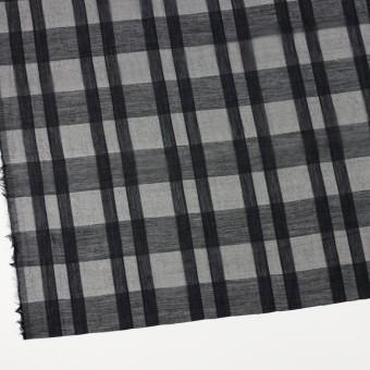 シルク&コットン×チェック(ブラック)×オーガンジー サムネイル2