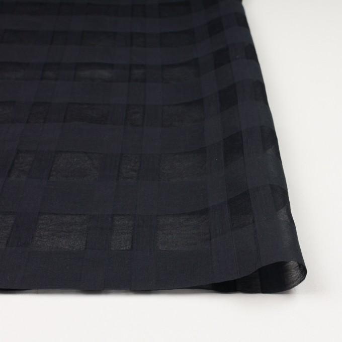 シルク&コットン×チェック(ブラック)×オーガンジー イメージ3