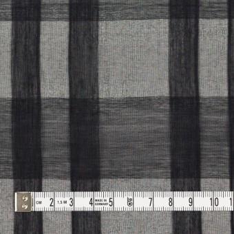 シルク&コットン×チェック(ブラック)×オーガンジー サムネイル4