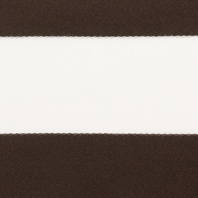 コットン×ボーダー(カーキブラウン)×Wニット_全3色 イメージ1