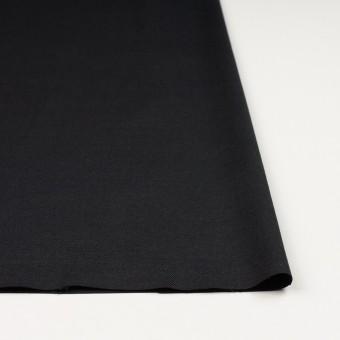 リネン×無地(ブラック)×サージ_イタリア製 サムネイル3