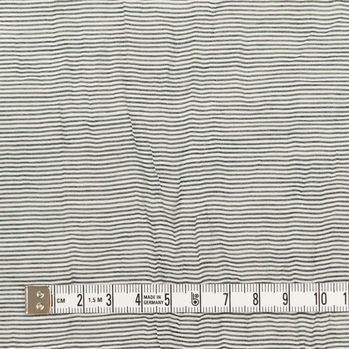 コットン&ナイロン×ボーダー(チャコール)×ボイルワッシャー_全2色 イメージ4