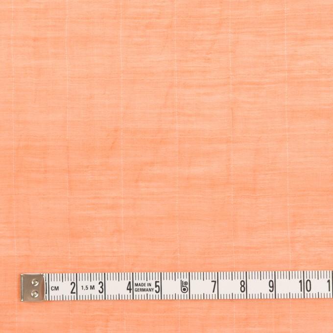 コットン&シルク混×チェック(オレンジ)×オーガンジー・ワッシャー_全2色 イメージ4