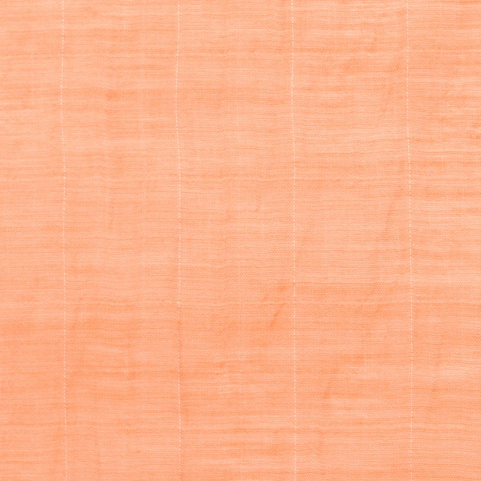 コットン&シルク混×チェック(オレンジ)×オーガンジー・ワッシャー_全2色 イメージ1