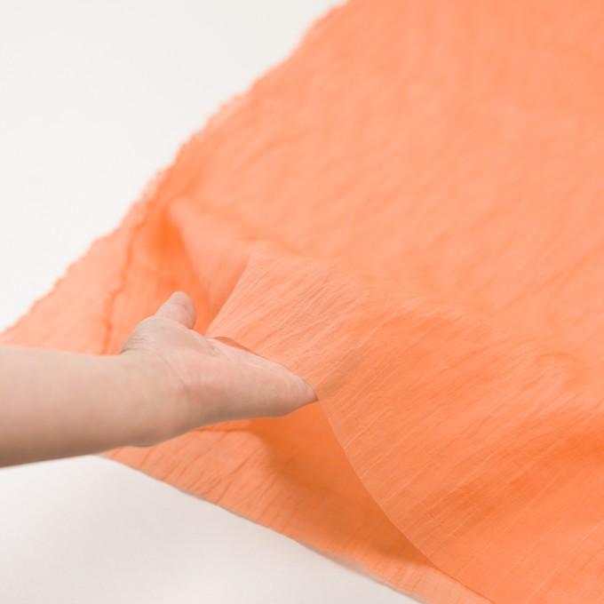 コットン&シルク混×チェック(オレンジ)×オーガンジー・ワッシャー_全2色 イメージ5