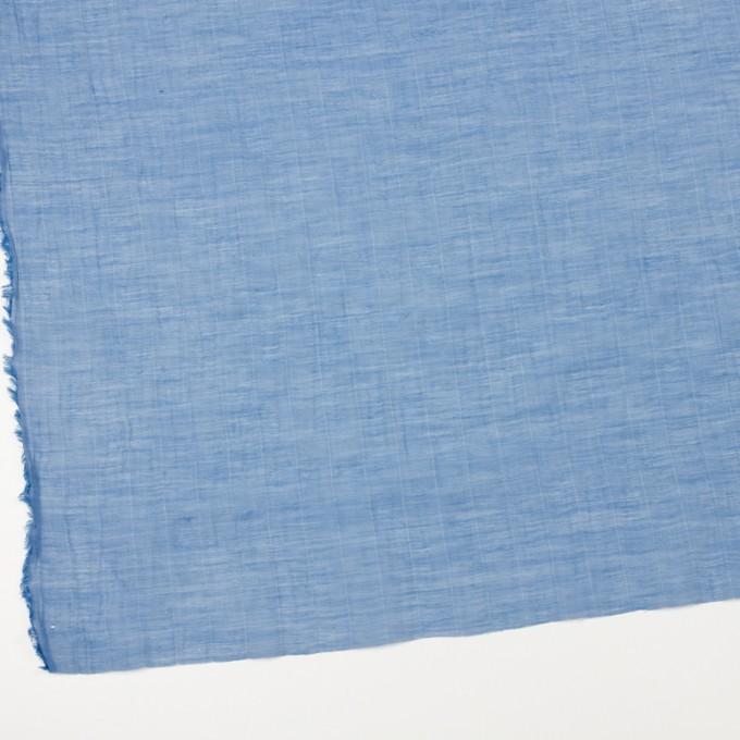 コットン&シルク混×チェック(ヒヤシンス)×オーガンジー・ワッシャー_全2色 イメージ2