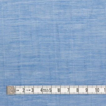 コットン&シルク混×チェック(ヒヤシンス)×オーガンジー・ワッシャー_全2色 サムネイル4