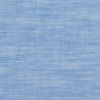 【140cmカット】コットン&シルク混×チェック(ヒヤシンス)×オーガンジー・ワッシャー_全2色