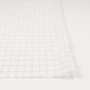 コットン&シルク混×チェック(オフホワイト&ブラック)×オーガンジー・ワッシャー_全4色 サムネイル3