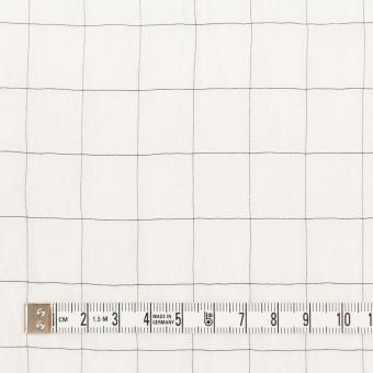 コットン&シルク混×チェック(オフホワイト&ブラック)×オーガンジー・ワッシャー_全4色 サムネイル4