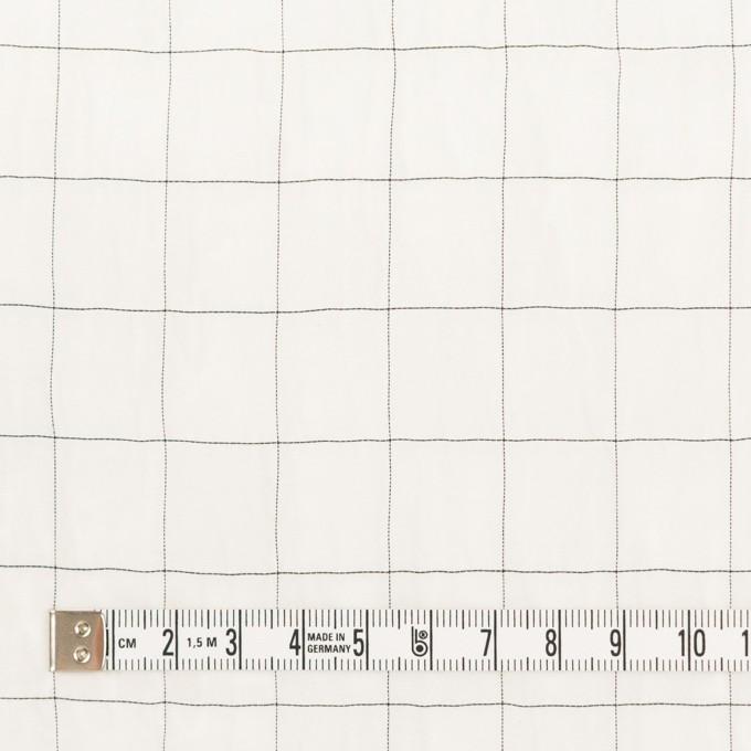 コットン&シルク混×チェック(オフホワイト&ブラック)×オーガンジー・ワッシャー_全4色 イメージ4