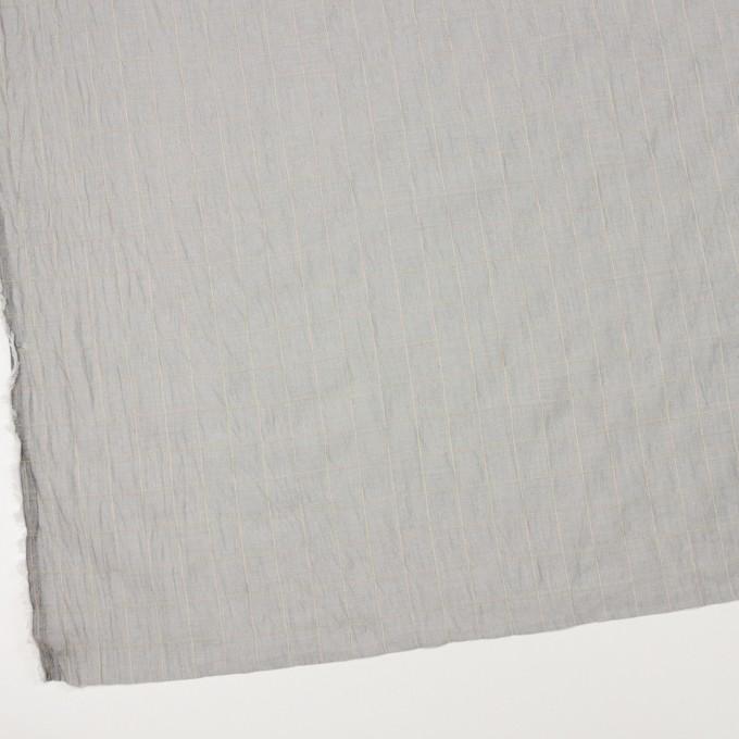 コットン&シルク混×チェック(シルバーグレー&クリームイエロー)×オーガンジー・ワッシャー_全4色 イメージ2
