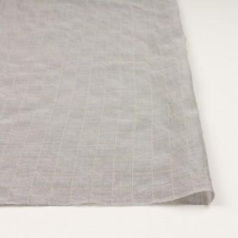 コットン&シルク混×チェック(シルバーグレー&クリームイエロー)×オーガンジー・ワッシャー_全4色 サムネイル3
