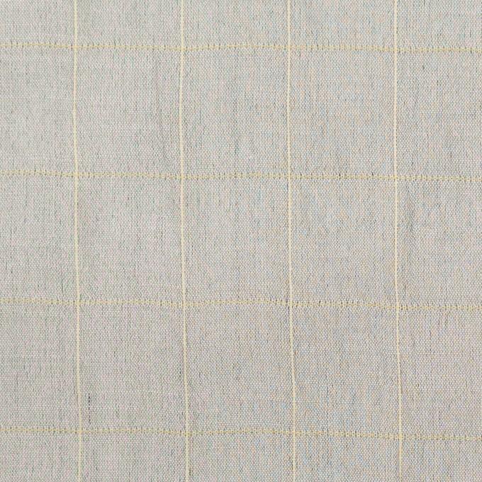 コットン&シルク混×チェック(シルバーグレー&クリームイエロー)×オーガンジー・ワッシャー_全4色 イメージ1