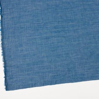 コットン&シルク混×チェック(アイアンブルー&ライムグリーン)×オーガンジー・ワッシャー_全4色 サムネイル2