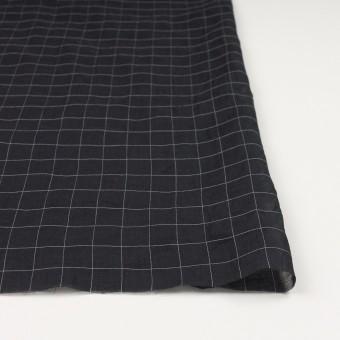コットン&シルク混×チェック(ブラック&ホワイト)×オーガンジー・ワッシャー_全4色 サムネイル3