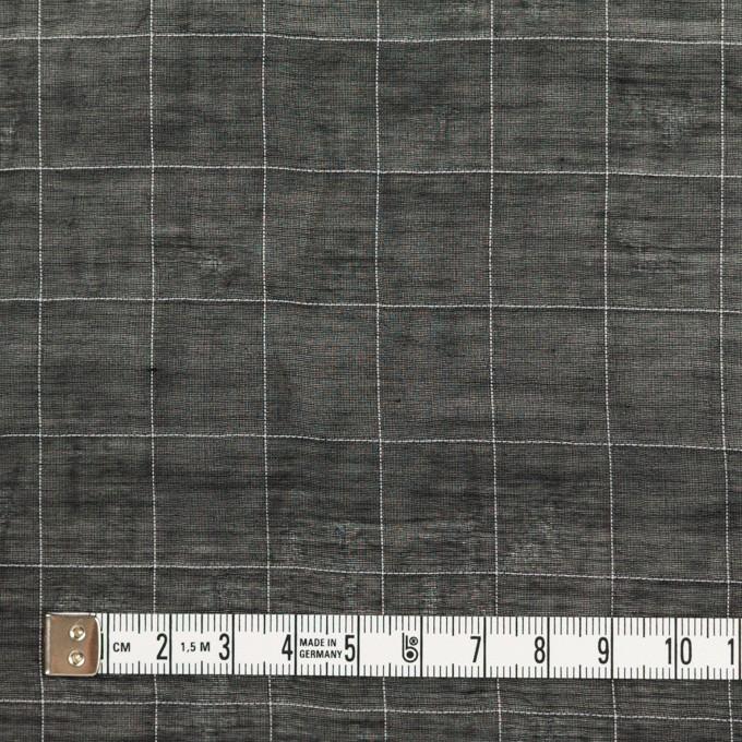 コットン&シルク混×チェック(ブラック&ホワイト)×オーガンジー・ワッシャー_全4色 イメージ4
