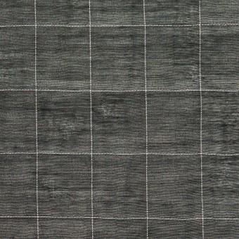 コットン&シルク混×チェック(ブラック&ホワイト)×オーガンジー・ワッシャー_全4色 サムネイル1