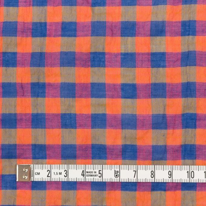 コットン&ポリウレタン×チェック(オレンジ&ブルー)×ボイルシャーリング_全3色 イメージ4