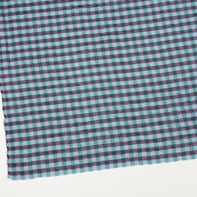 コットン&ポリウレタン×チェック(ミント&チャコール)×ボイルシャーリング_全3色 イメージ2