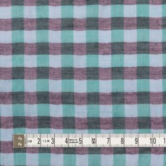 コットン&ポリウレタン×チェック(ミント&チャコール)×ボイルシャーリング_全3色 サムネイル4