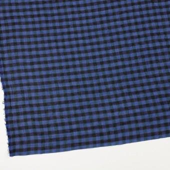 コットン&ポリウレタン×チェック(ブルー&ネイビー)×ボイルシャーリング_全3色 サムネイル2