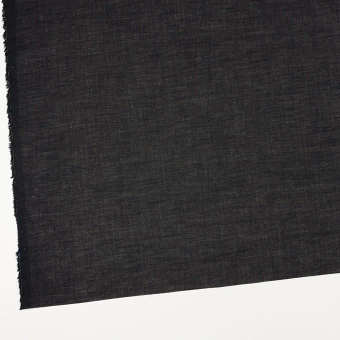 コットン&シルク×無地(ブラック)×ボイル_全2色 イメージ2