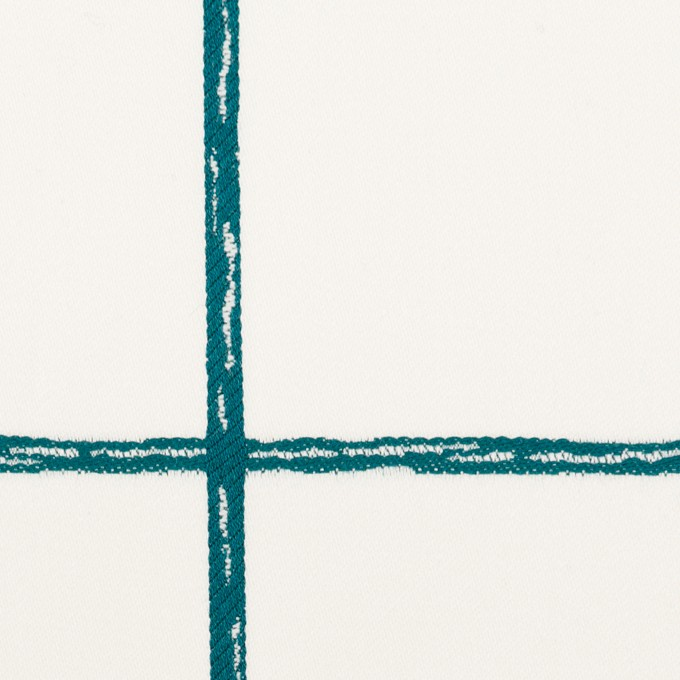 コットン&ポリウレタン×チェック(バルビゾン)×サテンストレッチ イメージ1