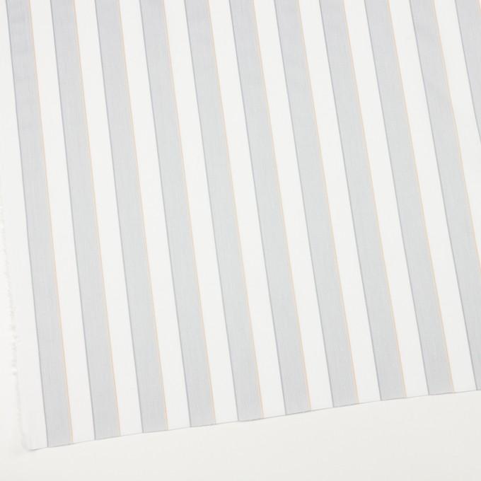 コットン×ストライプ(ライトグレー&ベージュ)×ブロードジャガード イメージ2